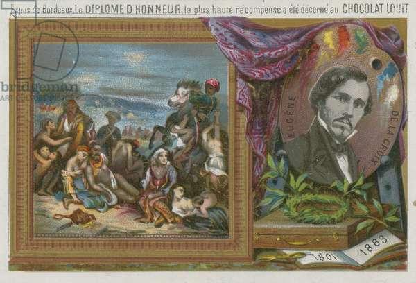 Eugene Delacroix (1801-1863) (chromolitho)