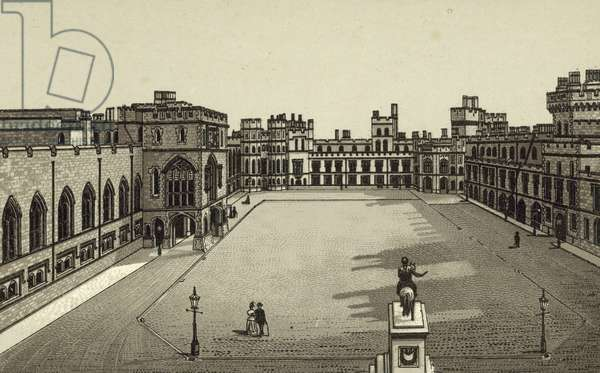 The Quadrangle Windsor Castle (litho)