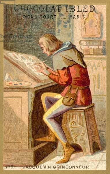 Jacquemin Gringonneur, French painter (chromolitho)
