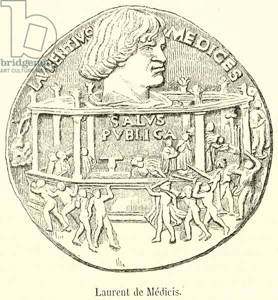 Laurent de Medicis, Bronze (engraving)
