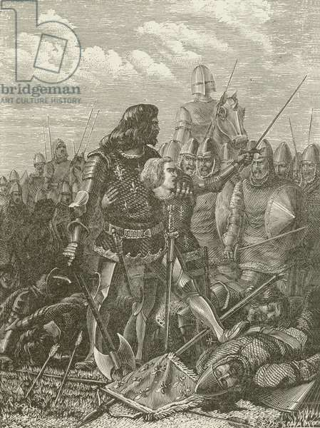 Henry V at the Battle of Agincourt (engraving)