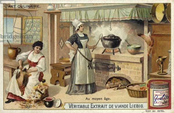 Medieval kitchen (chromolitho)