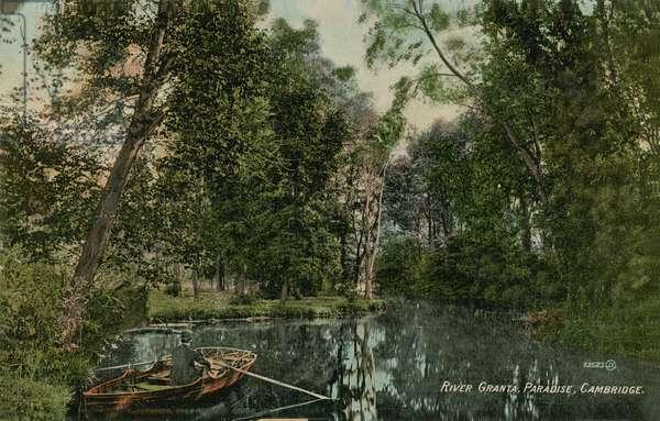 River Granta, Paradise, Cambridge. Postcard sent in 1913.