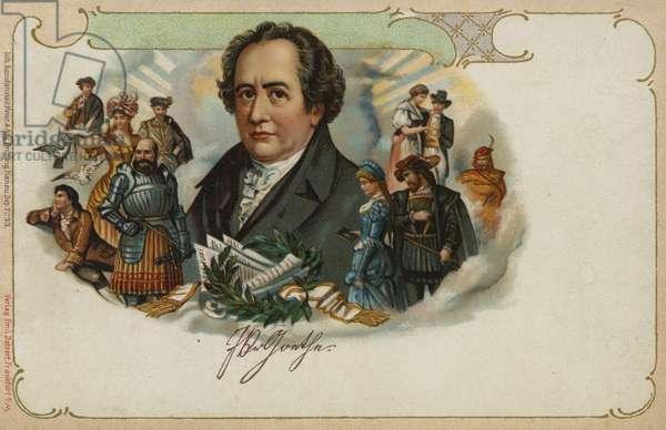 Johann Wolfgang von Goethe (colour litho)
