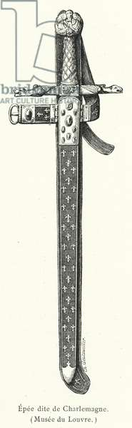 Epee dite de Charlemagne (engraving)