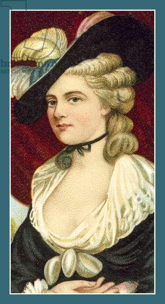 Mrs Robinson (Perdita) after Sir Joshua Reynolds (chromolitho)