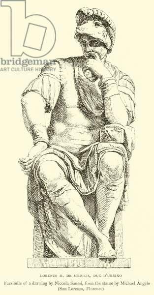 Lorenzo II, De Medicis, Duc d'Urbino (engraving)