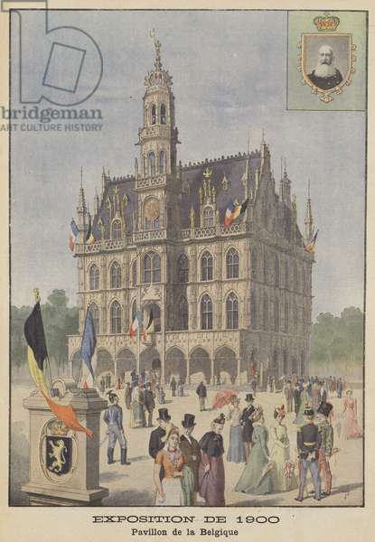 The Belgian Pavilion at the Exposition Universelle of 1900 in Paris (colour litho)