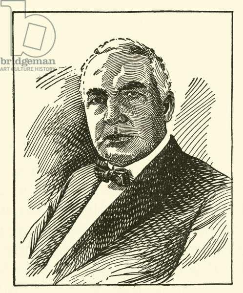 Warren G Harding (engraving)