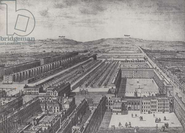 Bird's-Eye View of Gray's Inn about 1750 (litho)