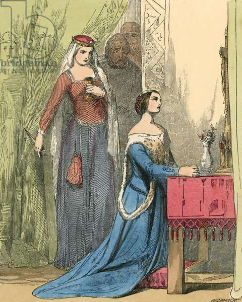 The Queen offering the poison to Fair Rosamond