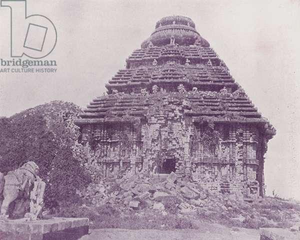 The Black Pagoda, Kanarak (b/w photo)