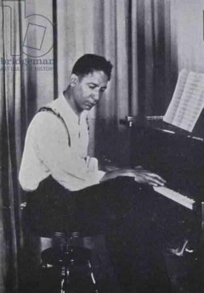 Jelly-Roll Morton (b/w photo)