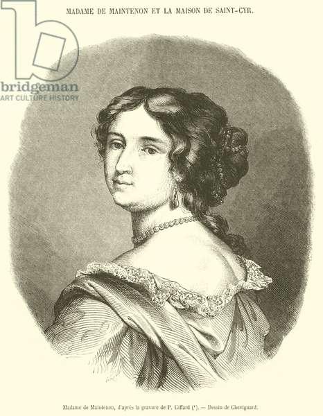 Madame de Maintenon (engraving)