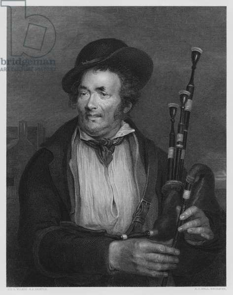 The Bagpiper, from the picture in the Vernon Gallery (engraving)