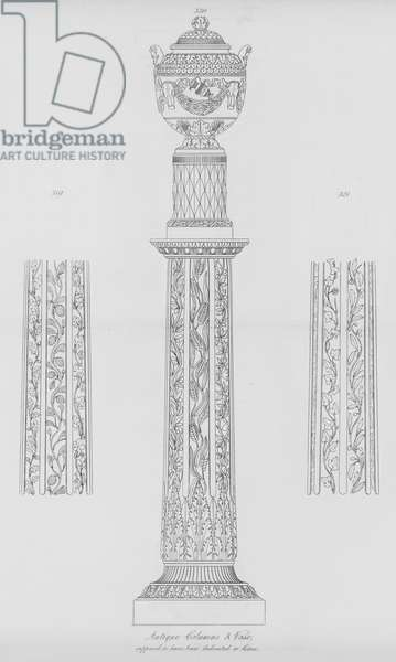 Antique Columns and Vase, supposed to have been dedicated to Ceres (engraving)