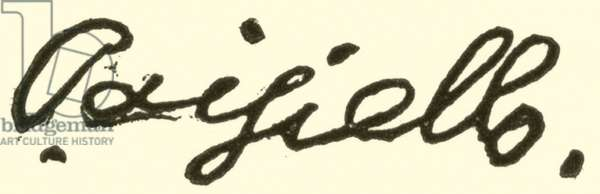 Giovanni Paisiello (Paesiello), 1741-1815, signature (engraving)
