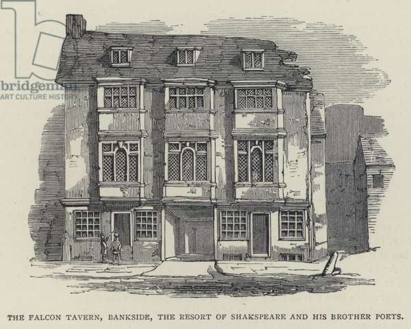 The Falcon Tavern, Bankside, the Resort of Shakspeare and his Brother Poets (engraving)