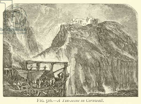 A Tin-Mine in Cornwall (engraving)