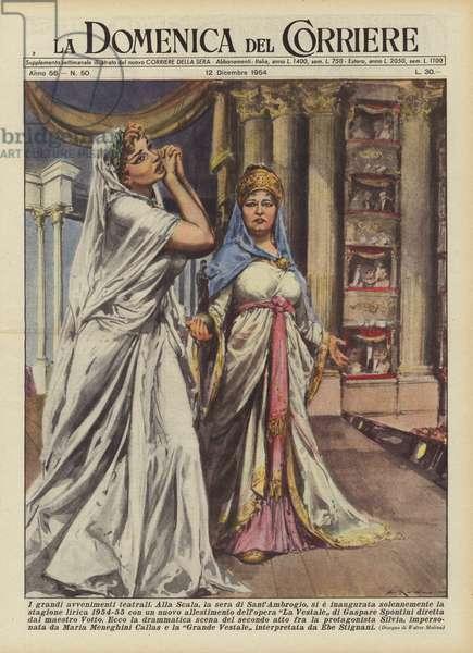 I grandi avvenimenti teatrali (colour litho)