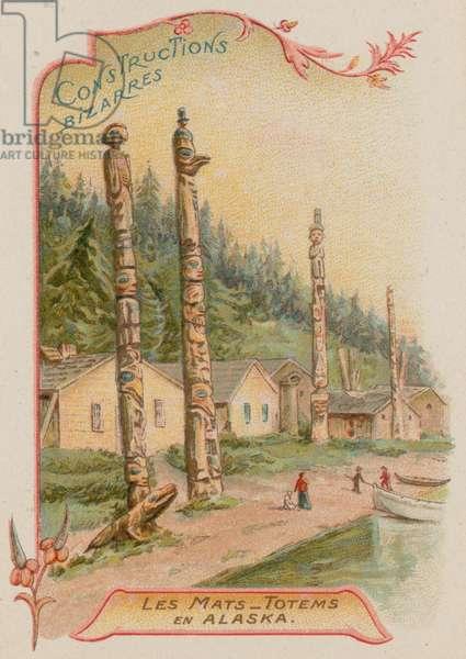 Totem poles in Alaska (chromolitho)