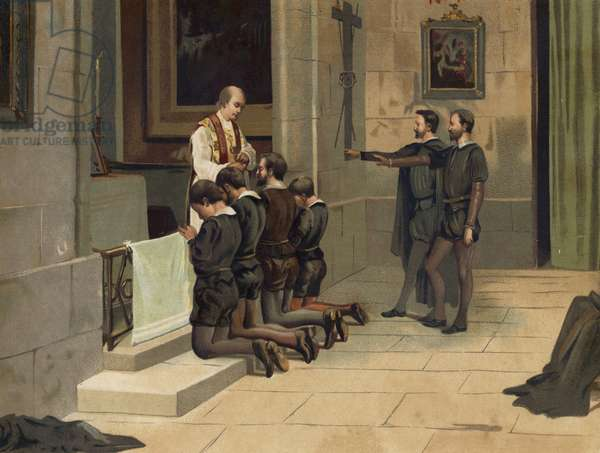 St Ignatius of Loyola, founder of the Jesuits (chromolitho)