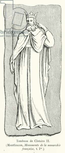 Tombeau de Clotaire II (engraving)