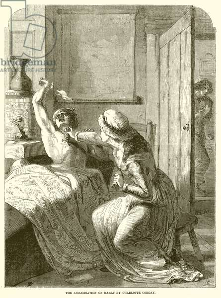 The Assassination of Marat by Charlotte Corday (engraving)