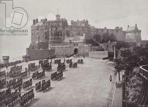 Edinburgh Castle, The Esplanade (b/w photo)