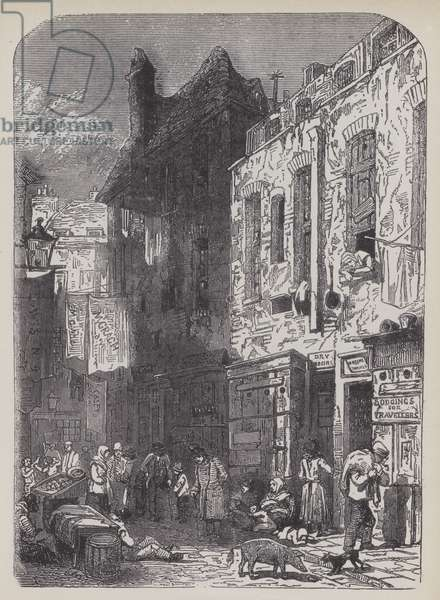 The Rookery, St Giles's, about 1800 (litho)