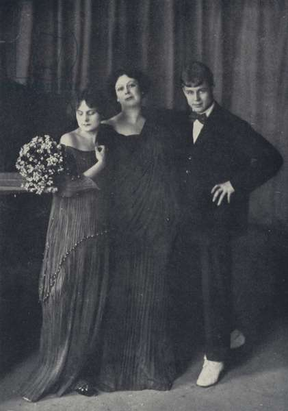 Isadora, Essenine, Irma, taken on the Wedding-Day, May 1922 (b/w photo)