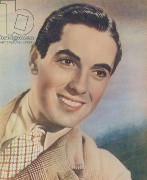 Tyrone Power (colour litho)