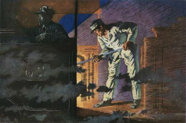 The Night Mail, The Engineman (colour litho)