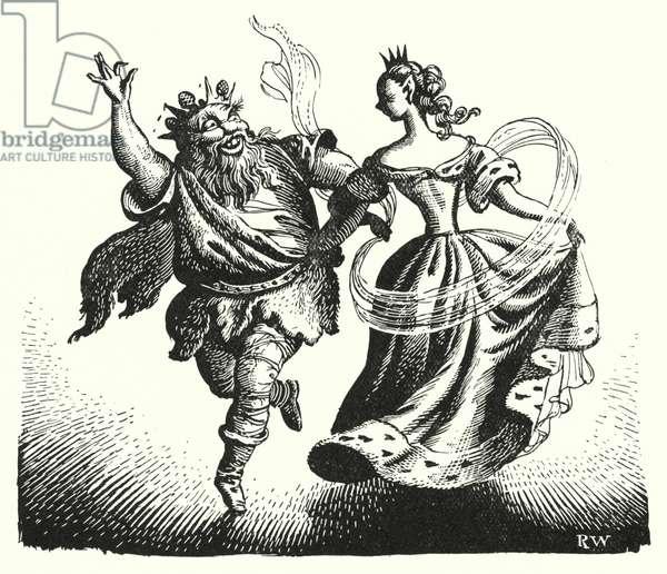 Hans Christian Andersen: The Elfin-Mount (litho)