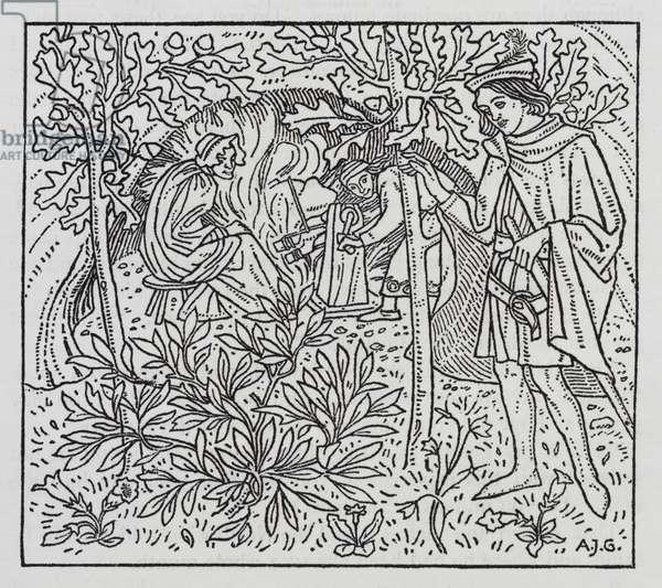Hans Christian Andersen: The Garden of Paradise (litho)