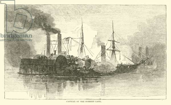 Capture of the Harriet Lane, January 1863 (engraving)