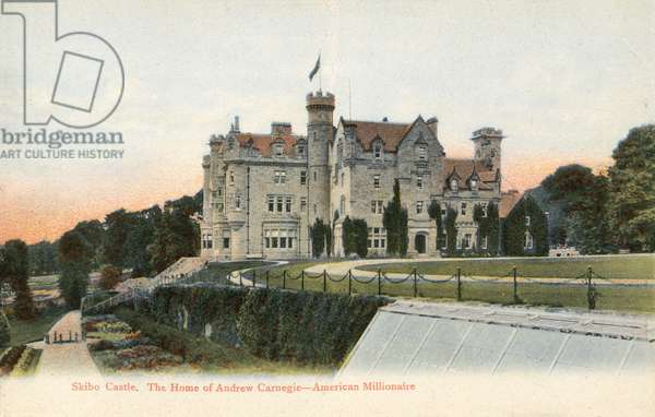 Skibo Castle, The Home of Andrew Carnegie - American Millionaire (colour photo)