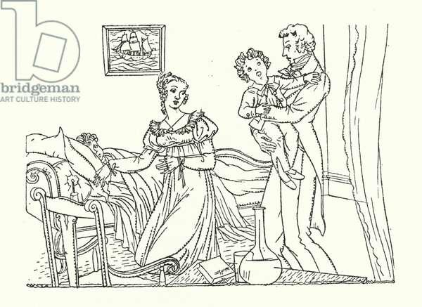 Illustration for Persuasian by Jane Austen (colour litho)