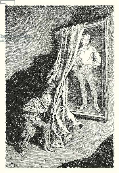 Illustration for The Picture of Dorian Gray by Oscar Wilde (litho)