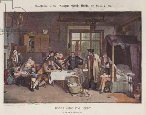 Distraining for Rent (colour litho)
