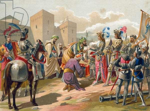 Boabdil surrenders Granada to the Catholic crown