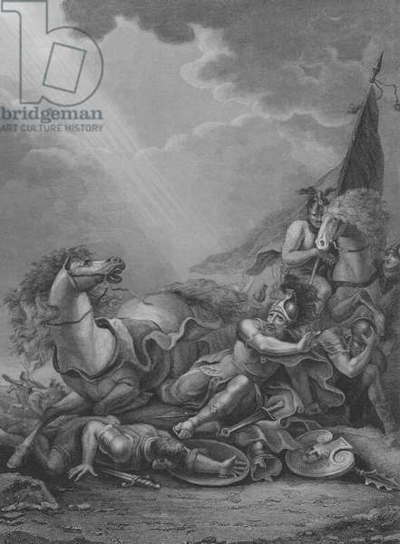 The Conversion of St Paul, Acts 9, Verse 1-21 (engraving)