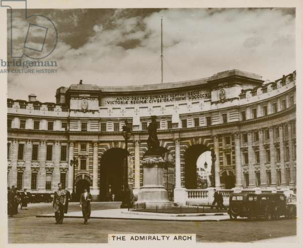 The Admiralty Arch (coloured photo)