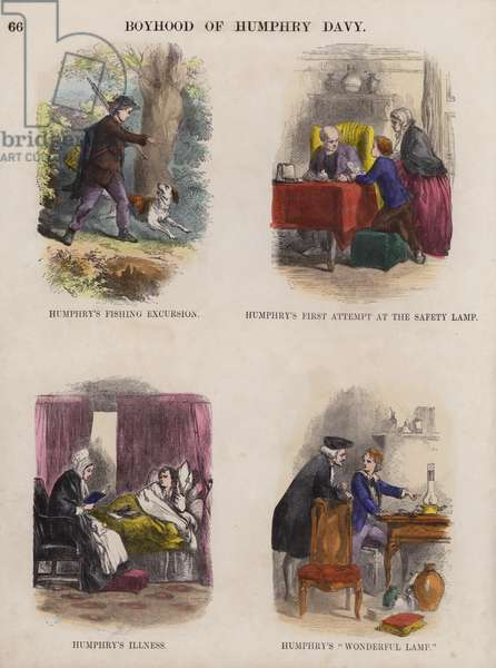 Boyhood of Humphry Davy (coloured engraving)
