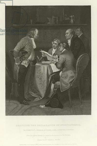 Drafting the Declaration of Independence (engraving)