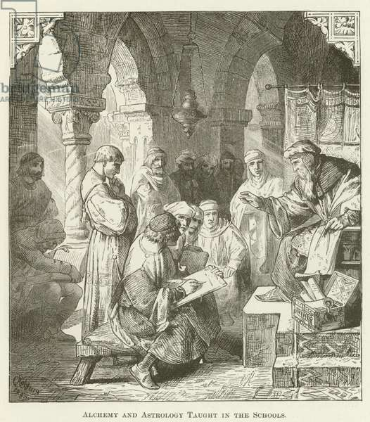 Alchemy and Astrology Taught in the Schools (engraving)