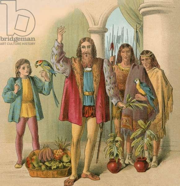 Columbus describing the New World