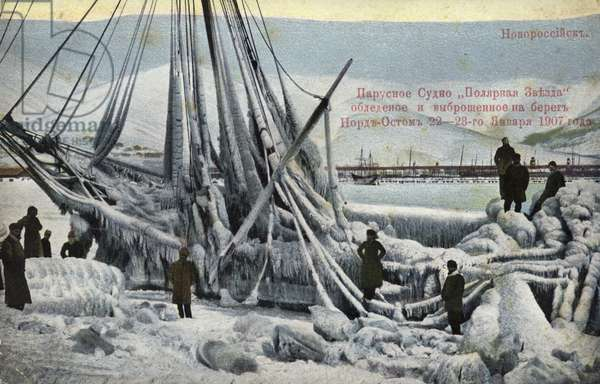 Wreck of the North Star, Novorossiysk, Russia, January 1907 (coloured photo)