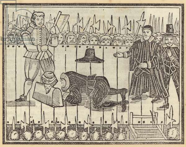 Execution of a man, probably King Charles I (woodcut)