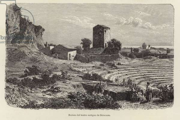 Ruins of the ancient theater at Syracuse (engraving)